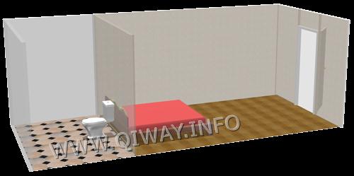 Спальня возле туалета