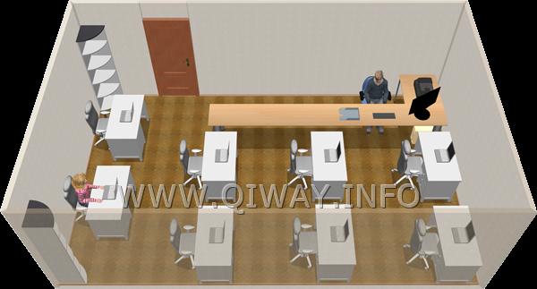 расположение столов в офисе по фен шуй